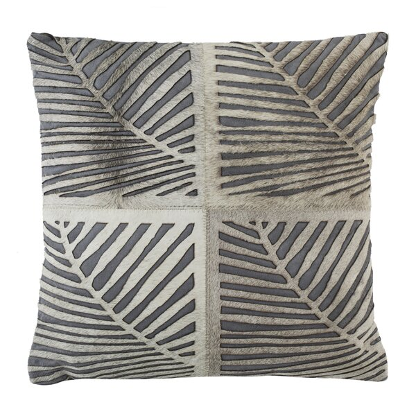Collinsville Palm Natural Throw Pillow by Bloomsbury Market