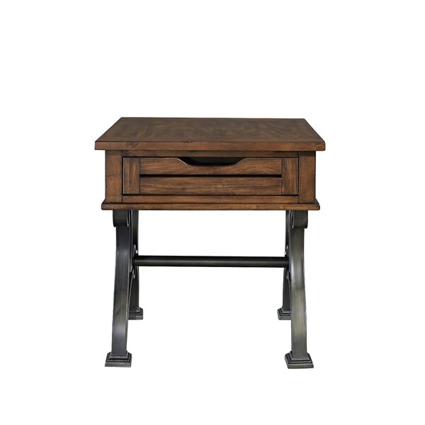 Hartford Drawer End Table by 17 Stories