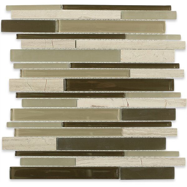 Cleveland Random Sized Glass/Marble Mosaic Tile in 2 Color Blend by Splashback Tile