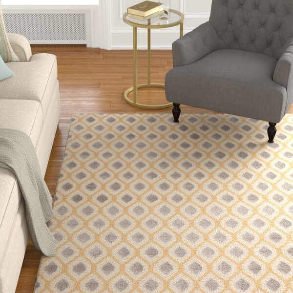 Susan Gray/Beige Area Rug by Charlton Home