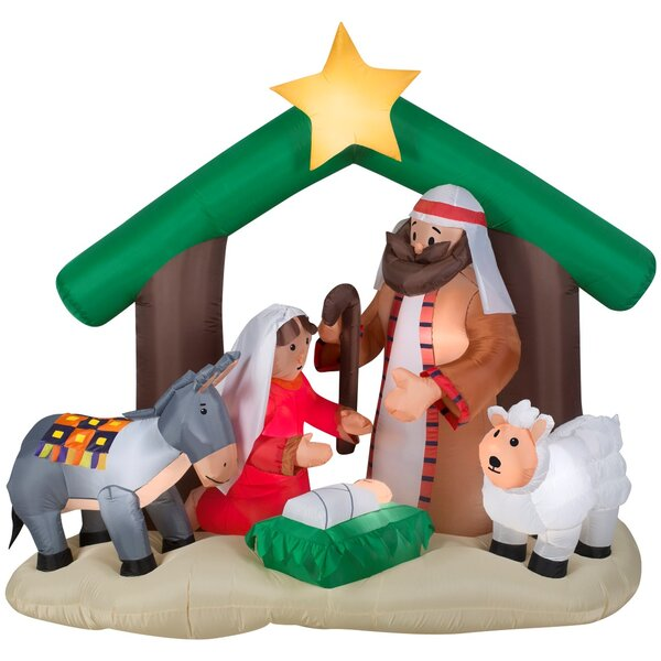 Holy Family Nativity Scene Christmas Oversized Figurine by The Holiday Aisle