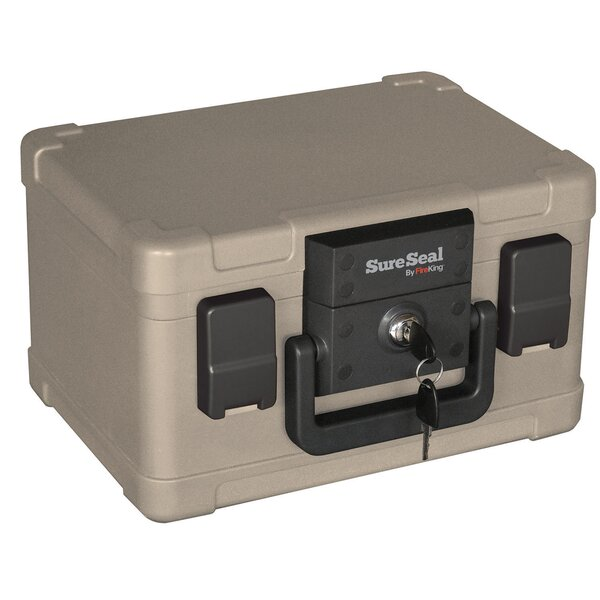 SureSeal 1/2 Hour Fireproof and Waterproof Safe Box with Key Lock by FireKingSureSeal 1/2 Hour Fireproof and Waterproof Safe Box with Key Lock by FireKing