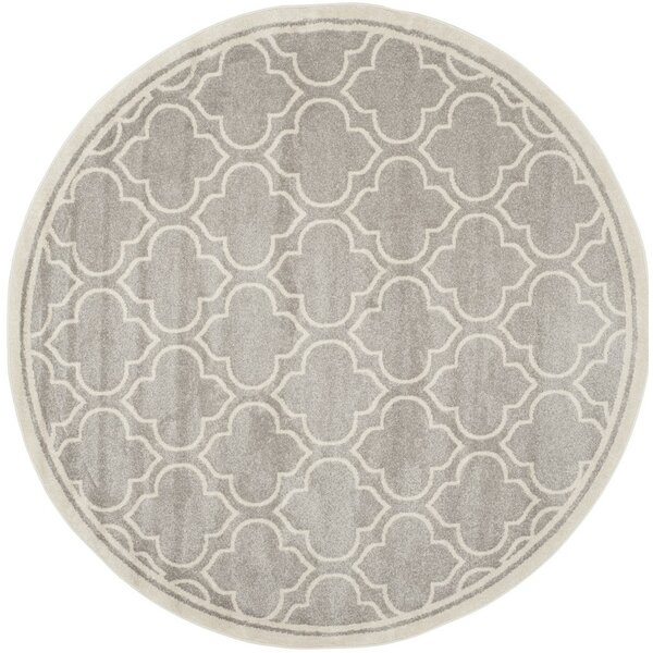 Carman Gray/Beige Indoor/Outdoor Area Rug by Charlton Home