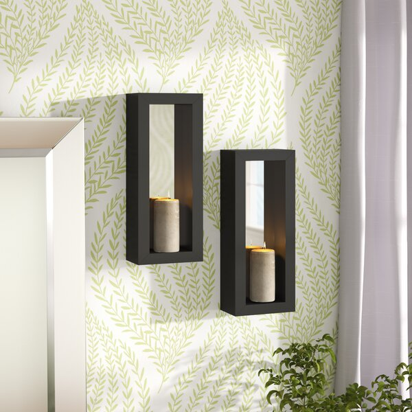Vertical Metal Sconce Set (Set of 2) by Latitude Run