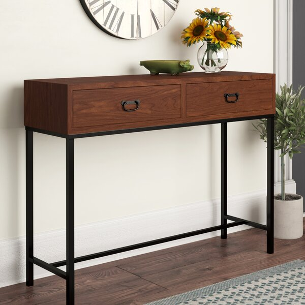 Barbury 43' Solid Wood Console Table by Gracie Oaks Gracie Oaks