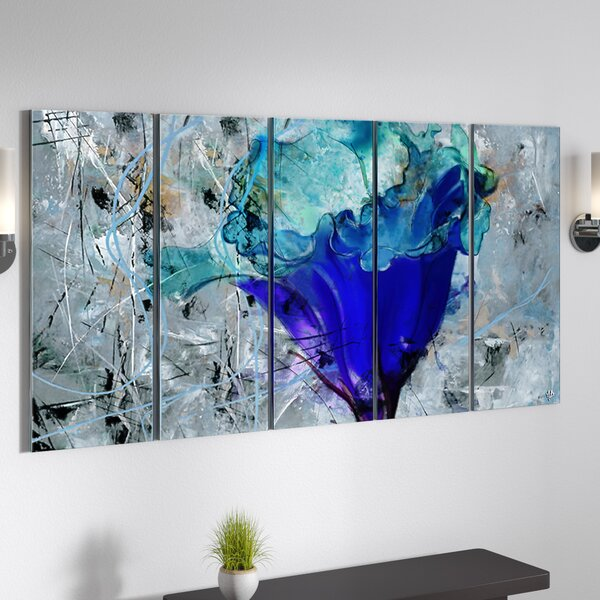 Painted Petals Lx Graphic Art Multi Piece Image On Canvas By Latitude Run.