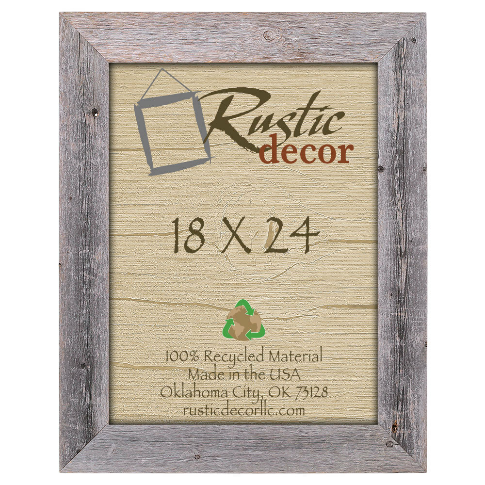 RusticDecor Barn Wood Reclaimed Wood Extra Wide Wall Picture Frame ...