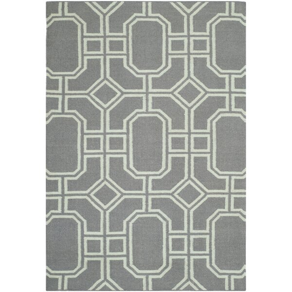 Dhurries Hand-Tufted Wool Gray/Ivory Area Rug by Safavieh