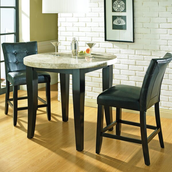 Chloe Counter Height 3 Piece Pub Table Set by Latitude Run