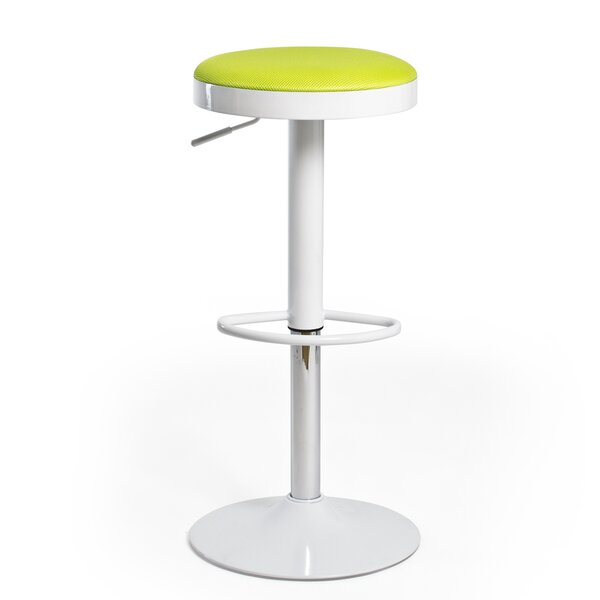 Hausman Adjustable Height Swivel Bar Stool by Ebern Designs