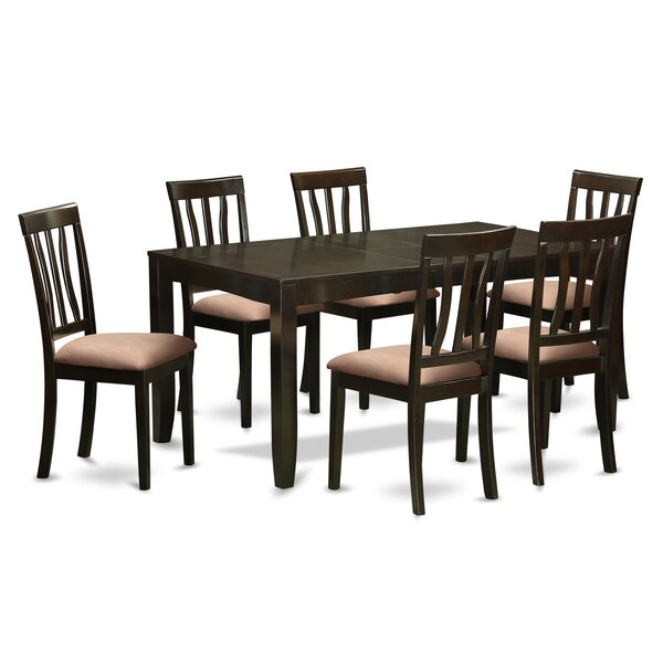 Lockmoor 7 Piece Solid Wood Dining Set by Red Barrel Studio Red Barrel Studio