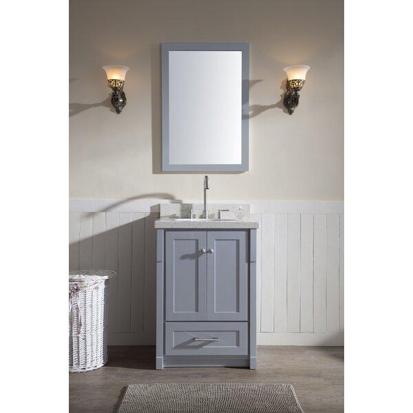 Adams 25 Single Sink Vanity Set with Mirror by Ariel Bath