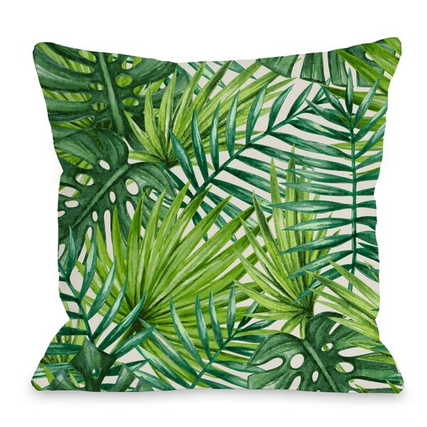 Palm Leaf Throw Pillow by One Bella Casa