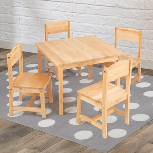 Reviews Farmhouse Kids 5 Piece Writing Table and Chair Set ByKidKraft