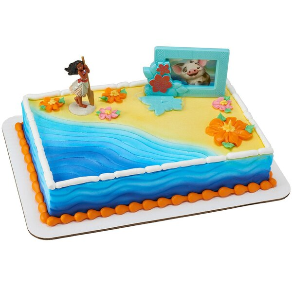 2 Piece Moana Adventures Paper Disposable Cake Decarating Set [NA]