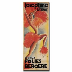 'Josephine Baker' by Paul Colin Vintage Advertisement on Canvas by Trademark Fine Art