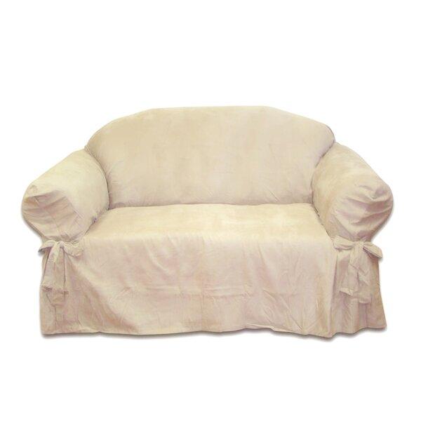 Box Cushion Loveseat Slipcover by Textiles Plus Inc.
