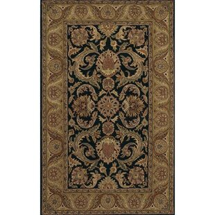 Top Erandekar Hand-Tufted Wool Black/Gray Area Rug By Astoria Grand