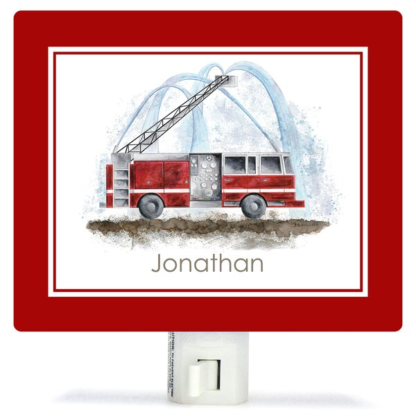 Planes, Trains & Autos - Fire Truck by Brett Blumenthal Customizable Night Light by Oopsy Daisy