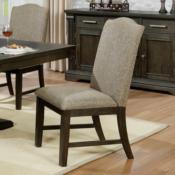 Hickory Upholstered Dining Chair (Set of 2) by Canora Grey