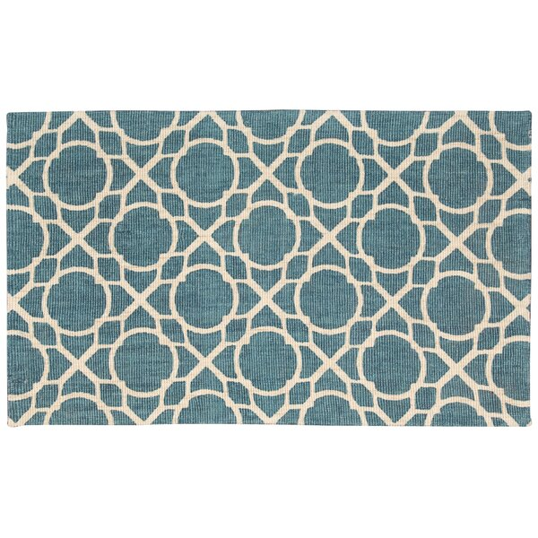 Color Motion Perfect Fit Hand-Woven Teal Area Rug by Waverly