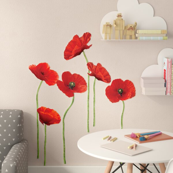 Aileu 12 Piece Poppies Wall Decal Set by Wrought Studio
