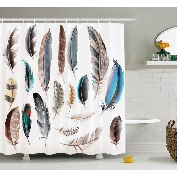 Feather Setting Decor Shower Curtain by East Urban Home