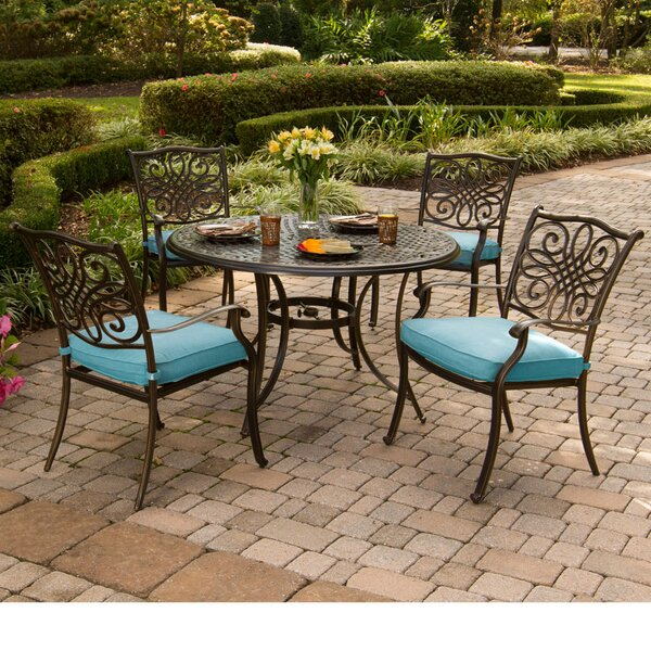 Lauritsen 5 Piece Dining Set by Three Posts