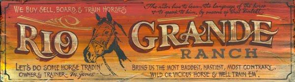 Rio Grande Vintage Advertisement Plaque by Winston Porter