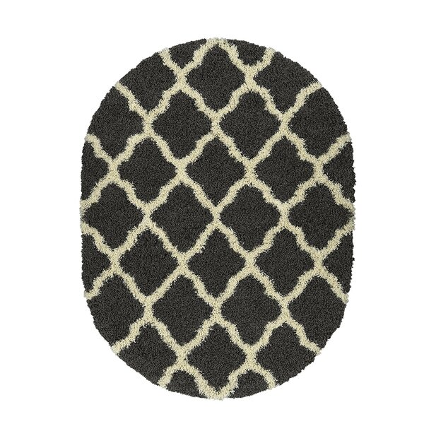 Danby Charcoal Gray/Cream Area Rug by Alcott Hill