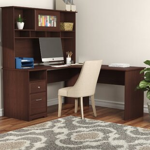 Hillsdale L-Shape Credenza Desk with Hutch