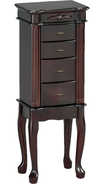 Traditional Jewelry Armoire with Mirror by Wildon Home ®