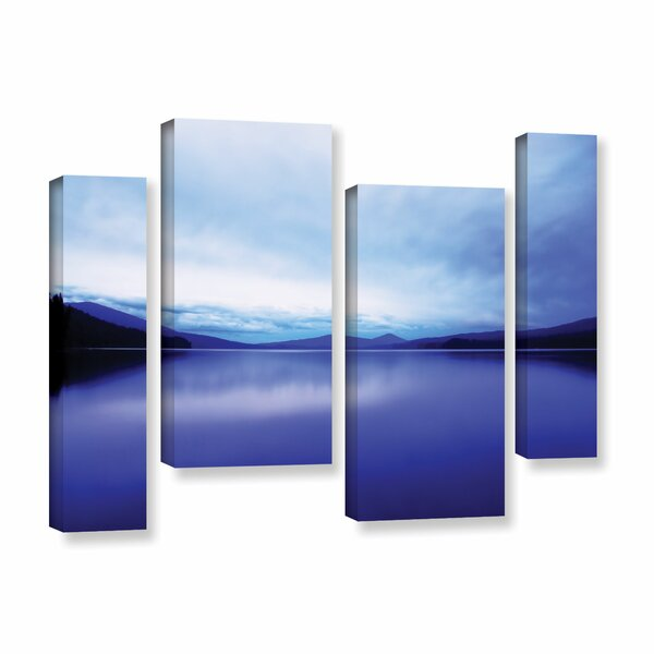 Oregon-Odell Lake by Dan Wilson 4 Piece Photographic Print on Wrapped Canvas Set by ArtWall