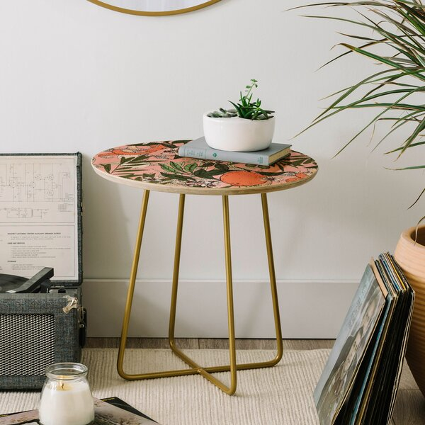 Marta Barragan Camarasa Olives in the Flowers End Table by East Urban Home