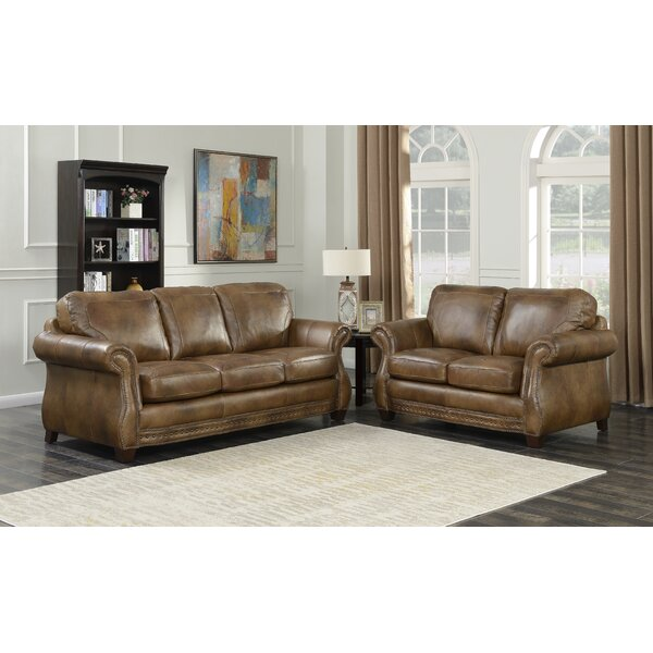 Simone 2 Piece Leather Living Room Set  by Fleur De Lis Living