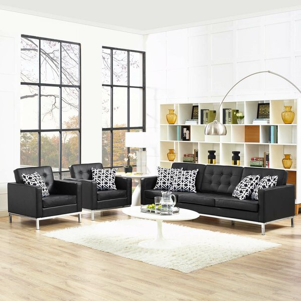 Gayatri 3 Piece Leather Living Room Set By Orren Ellis Wonderful