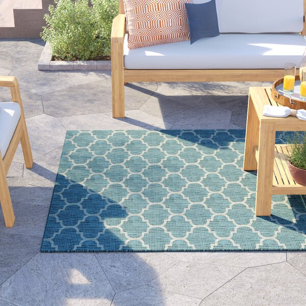 Delray Teal Indoor/Outdoor Area Rug by Sol 72 Outdoor