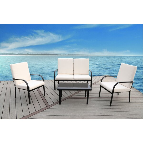 Florida 4 Piece Sofa Set with Cushions by SunTime Outdoor Living
