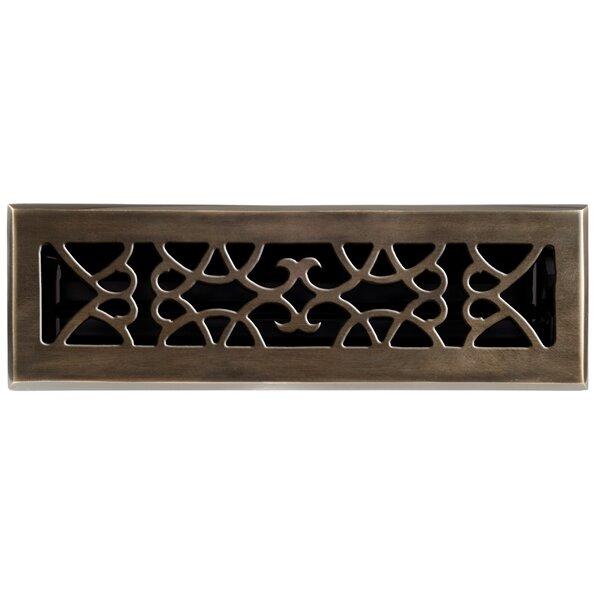 """2.25"""" x 10 Solid Cast Brass Floor Register Trim in Antique Brass by Brass Elegans"""