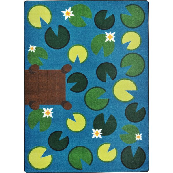 Hand-Tufled Green/Blue Area Rug by The Conestoga Trading Co.