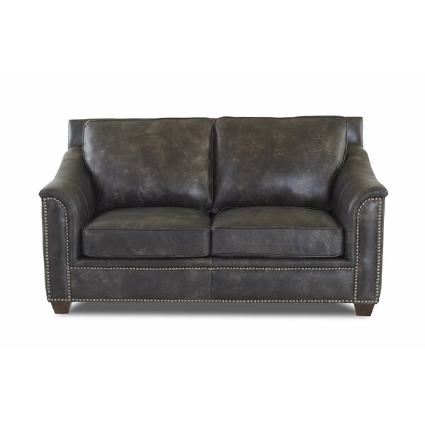 Sasha Leather Loveseat by Foundry Select