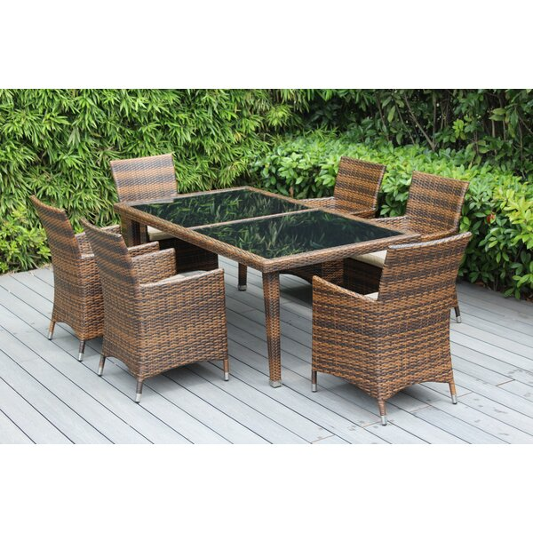 Ohana 6 Piece Dining Set with Cushions by Ohana Depot