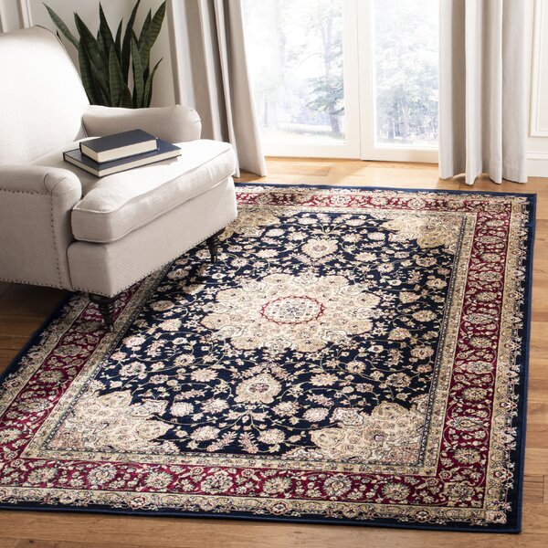 Carolus Red/Navy Area Rug by Darby Home Co