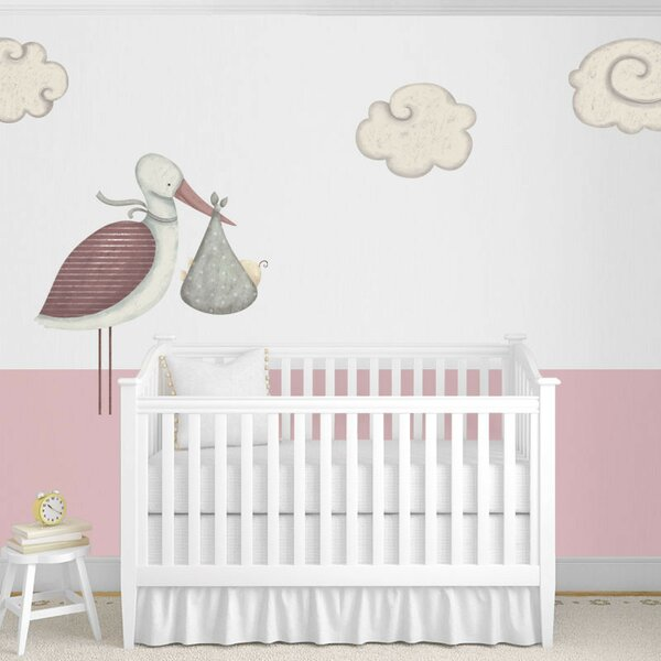 Standing Stork and Cloud Wall Stickers by My Wonderful Walls