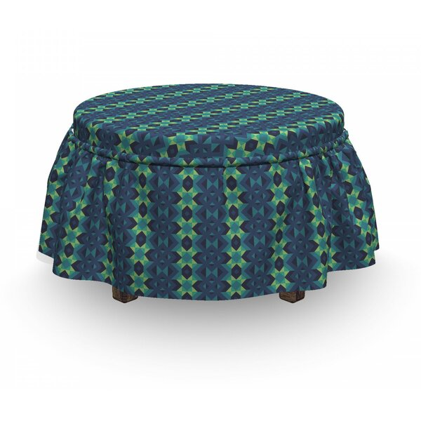 Geometric Zigzag Ottoman Slipcover (Set Of 2) By East Urban Home