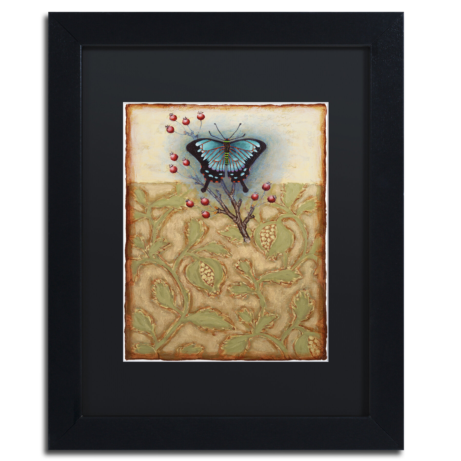 Trademark Art Salt Meadow Butterfly By Rachel Paxton Framed Painting Print Wayfair
