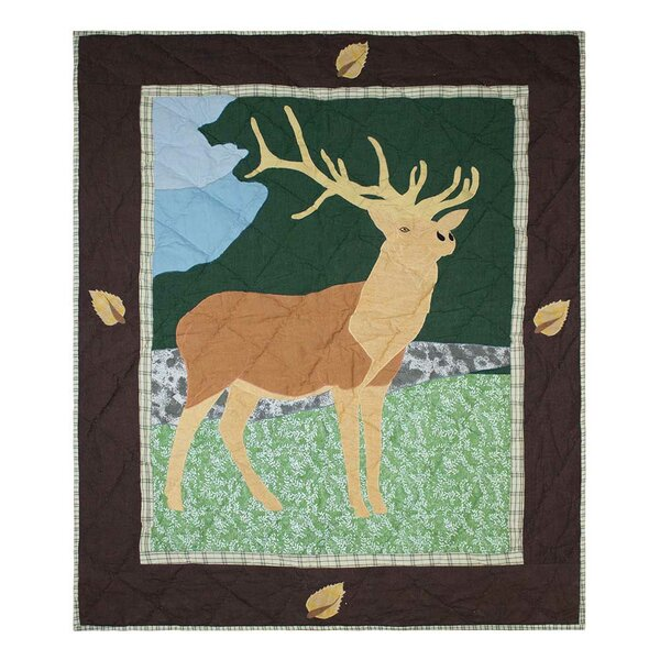 Elk Cotton Crib Quilt by Patch Magic