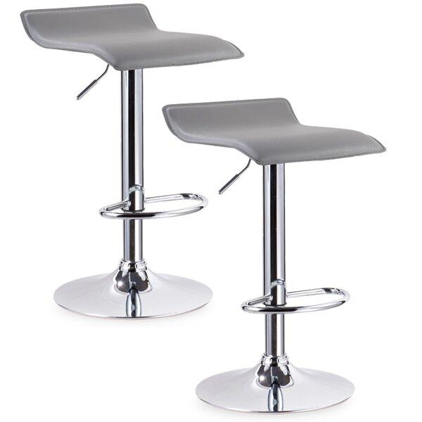 Eilerman Adjustable Height Swivel Bar Stool (Set of 2) by Orren Ellis