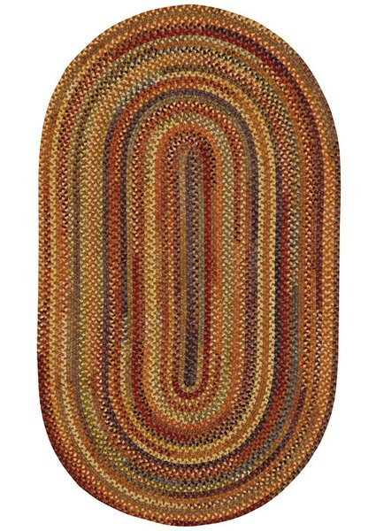 Kaweah Hand-Braided Wool Brown Area Rug by Loon Peak