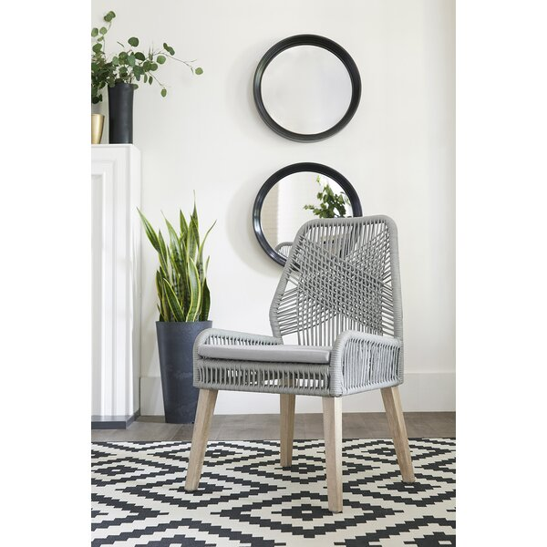 Cross Back Side Chair In Gray (Set Of 2) By Bungalow Rose
